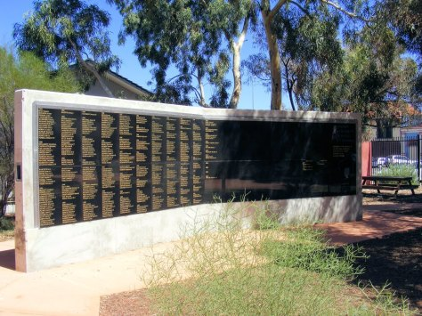 Halbert, James Kalgoorlie miner's memorial wall Written