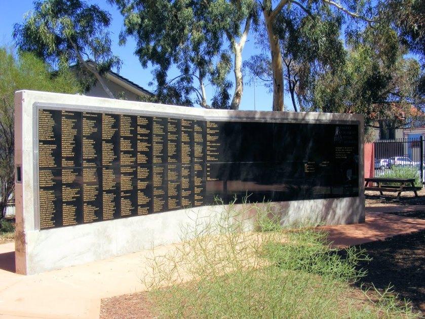 Halbert, James Kalgoorlie miner's memorial wall Written