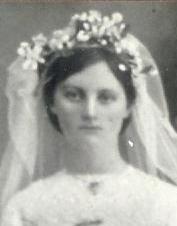 Halbert, Margaret Winifred (Maggie) wedding day.
