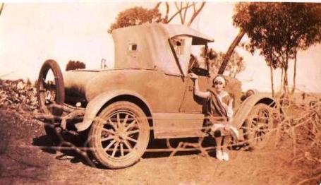 Halbert, Ruby and her car just off to hockey (Lorraine)