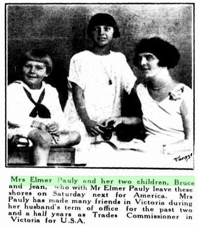 Pauly, Charlotte, Jean and Bruce 1926