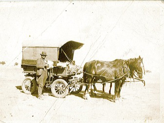 Perrin, Alfred James with cart