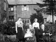 Perrin, Marlow and Emma Perrin, with Daughters Ellen Annie Teresa (rt standing) and posibly Alice WB (Perrin) Aston, married to Aston and mother of The child Winnie.