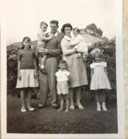 Perrin, Phyllis Neida,Richard, Max, Gordon in front, Lena holding Carol & Phyllis . 1959