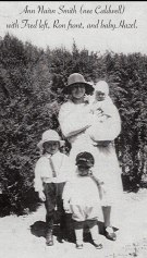 Smith Ann Nairn (nee Caldwell)+Fred+Ron+Hazel