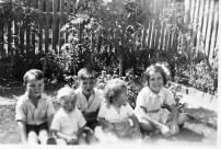 Wharton, Ronnie, Billy Young & Joan Wharton (back) Keith Young & Georgie Wharton (front).