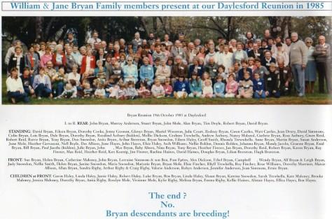 Bryan, Reunion 1985 J. Mole